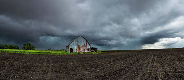 Shelf Cloud Photograph - No Shelter Here by Aaron J Groen