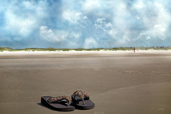 Flip Flops Photograph - No Shoes Required by Betsy Knapp