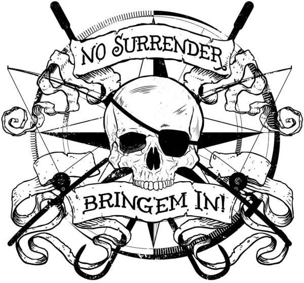 Offshore Wall Art - Digital Art - No Surrender - Blackout by Kevin Putman