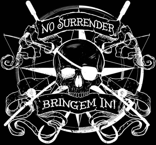 Offshore Wall Art - Digital Art - No Surrender - Whiteout by Kevin Putman