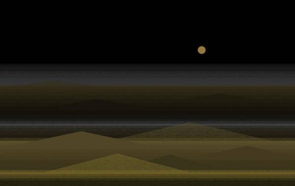 Dark Olive Green Wall Art - Digital Art - No Swimming After Dark by Val Arie
