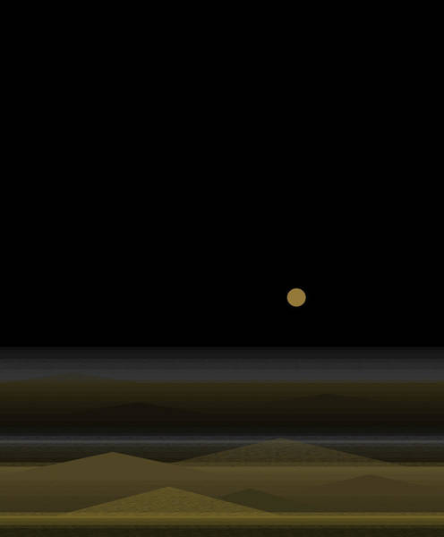 Wall Art - Digital Art - No Swimming After Dark - Vertical by Val Arie