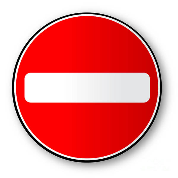 No Entry Digital Art - No Traffic Entry by Bigalbaloo Stock