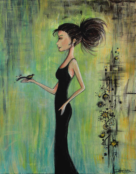 Wall Art - Painting - No Voice Above A Whisper by Debbie Gallerani