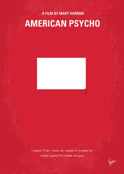 Culture Wall Art - Digital Art - No005 My American Psyhco Minimal Movie Poster by Chungkong Art