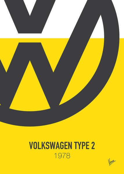 Volkswagen Wall Art - Digital Art - No009 My Little Miss Sunshine Minimal Movie Car Poster by Chungkong Art
