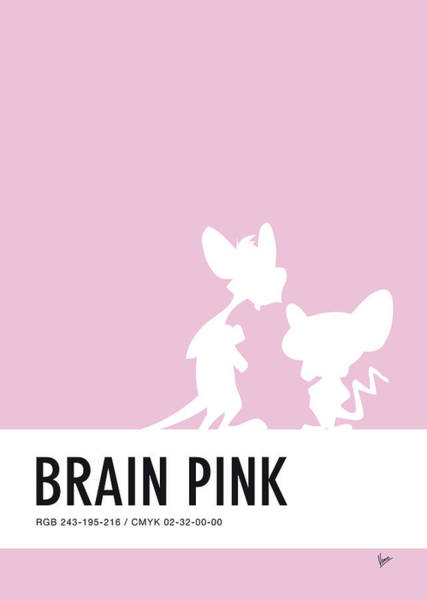 Digital Art - No01 My Minimal Color Code Poster Pinky And The Brain by Chungkong Art