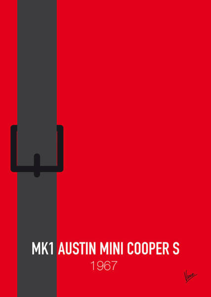 Mini Cooper Wall Art - Digital Art - No018 My The Italian Job Minimal Movie Car Poster by Chungkong Art