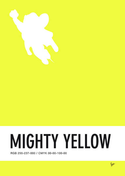 Digital Art - No02 My Minimal Color Code Poster Mighty Mouse by Chungkong Art