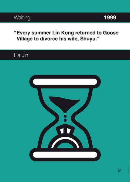 Waiting Wall Art - Digital Art - No029-my-waiting-book-icon-poster by Chungkong Art