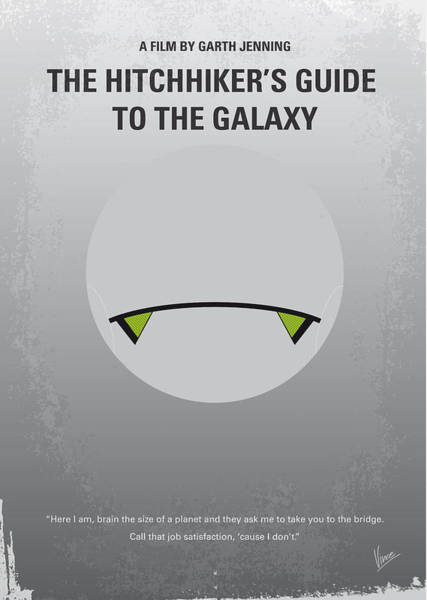 Deep Thought Wall Art - Digital Art - No035 My Hitchhiker Guide Minimal Movie Poster by Chungkong Art