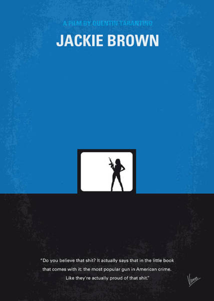 Wall Art - Digital Art - No044 My Jackie Brown Minimal Movie Poster by Chungkong Art