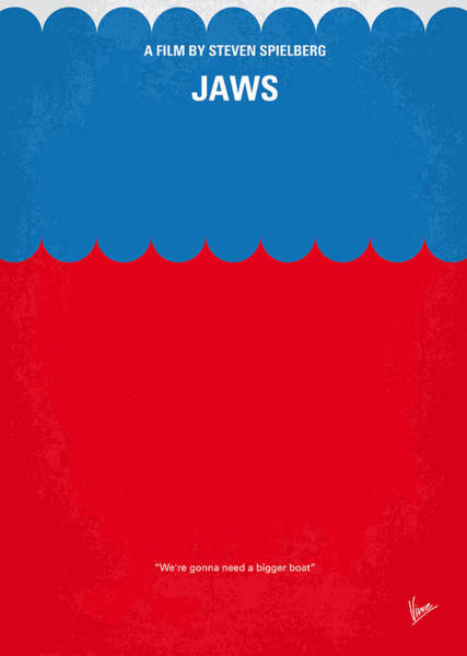 Boats Digital Art - No046 My Jaws Minimal Movie Poster by Chungkong Art