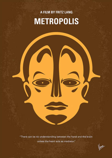 Metropolis Digital Art - No052 My Metropolis Minimal Movie Poster by Chungkong Art