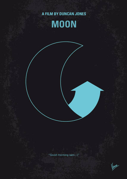 Film Industry Wall Art - Digital Art - No053 My Moon 2009 Minimal Movie Poster by Chungkong Art