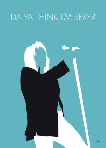 Sexy Digital Art - No075 My Rod Stewart Minimal Music Poster by Chungkong Art