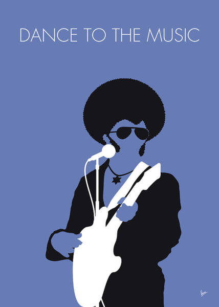 Soul Digital Art - No088 My Sly And The Family Stone Minimal Music Poster by Chungkong Art