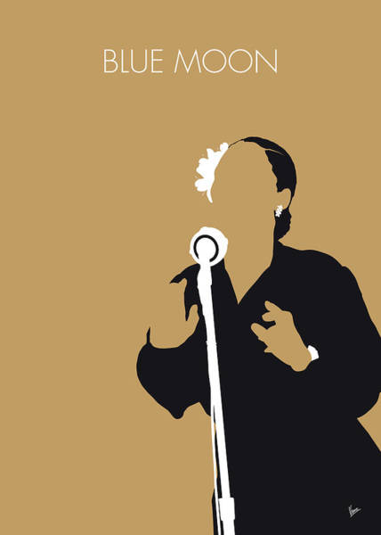50s Wall Art - Digital Art - No090 My Billie Holiday Minimal Music Poster by Chungkong Art