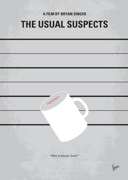 Fan Wall Art - Digital Art - No095 My The Usual Suspects Minimal Movie Poster by Chungkong Art