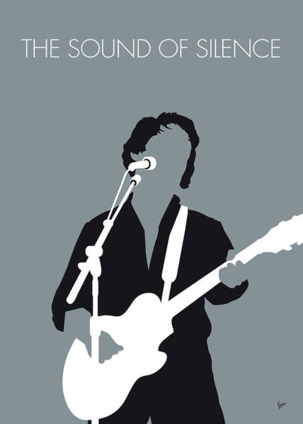 60s Wall Art - Digital Art - No097 My Paul Simon Minimal Music Poster by Chungkong Art