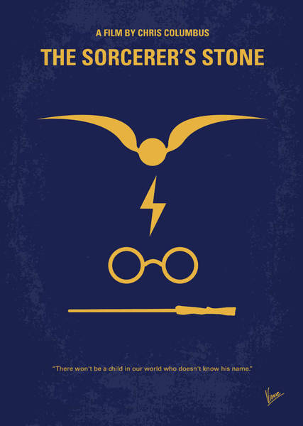Stone Wall Wall Art - Digital Art - No101-1 My Hp - Sorcerers Stone Minimal Movie Poster by Chungkong Art