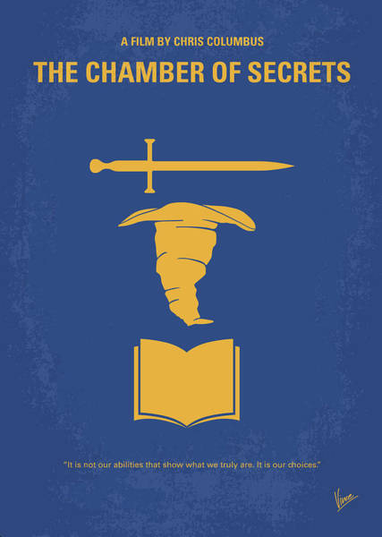 House Digital Art - No101-2 My Hp - Chamber Of Secrets Minimal Movie Poster by Chungkong Art