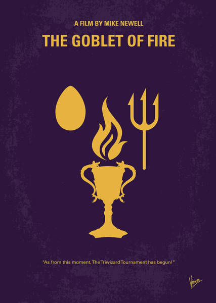 Fire Digital Art - No101-4 My Hp - Goblet Of Fire Minimal Movie Poster by Chungkong Art