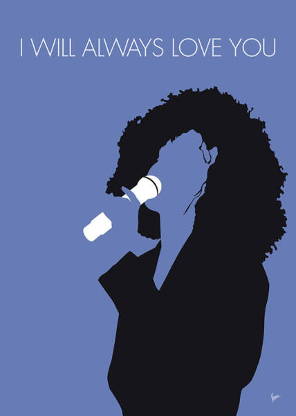 Wall Art - Digital Art - No108 My Whitney Houston Minimal Music Poster by Chungkong Art