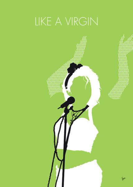 Virgin Digital Art - No116 My Madona Minimal Music Poster by Chungkong Art