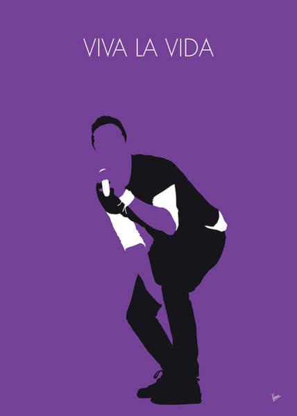 Band Digital Art - No121 My Coldplay Minimal Music Poster by Chungkong Art