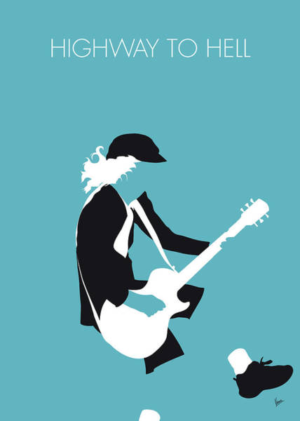 Wall Art - Digital Art - No125 My Acdc Minimal Music Poster by Chungkong Art