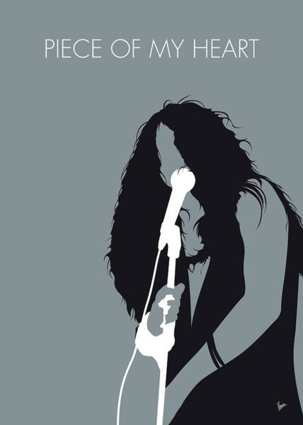 60s Digital Art - No127 My Janis Joplin Minimal Music Poster by Chungkong Art