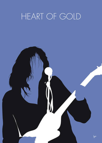 Heart Digital Art - No128 My Neil Young Minimal Music Poster by Chungkong Art