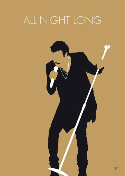 No130 My Lionel Richie Minimal Music Poster Art Print
