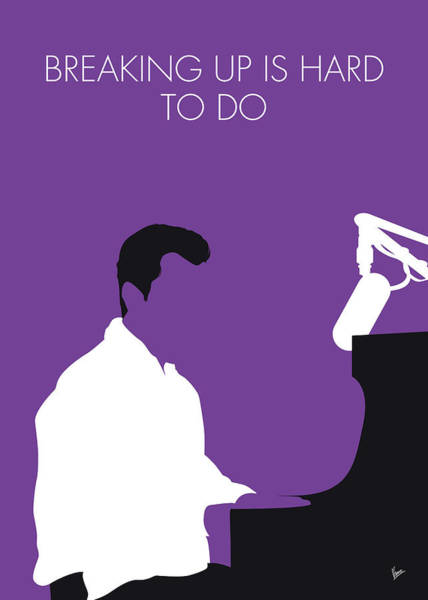 60s Digital Art - No131 My Neil Sedaka Minimal Music Poster by Chungkong Art