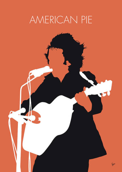 Wall Art - Digital Art - No143 My Don Mclean Minimal Music Poster by Chungkong Art