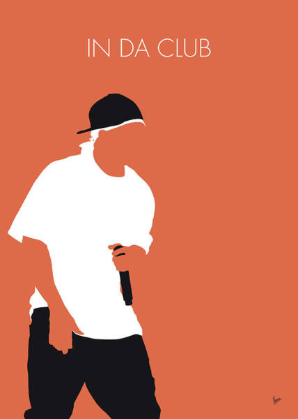 In Digital Art - No153 My 50 Cent Minimal Music Poster by Chungkong Art