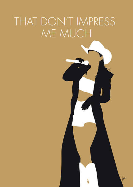 Wall Art - Digital Art - No160 My Shania Twain Minimal Music Poster by Chungkong Art