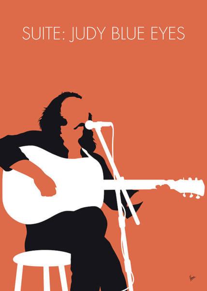 Blue Eye Digital Art - No173 My Crosby Stills And Nash Minimal Music Poster by Chungkong Art