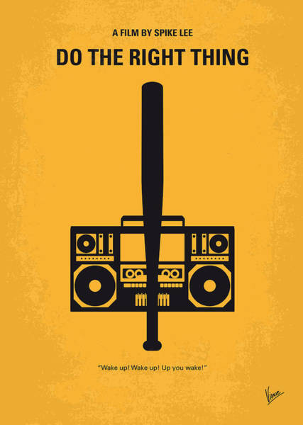 Best Wall Art - Digital Art - No179 My Do The Right Thing Minimal Movie Poster by Chungkong Art