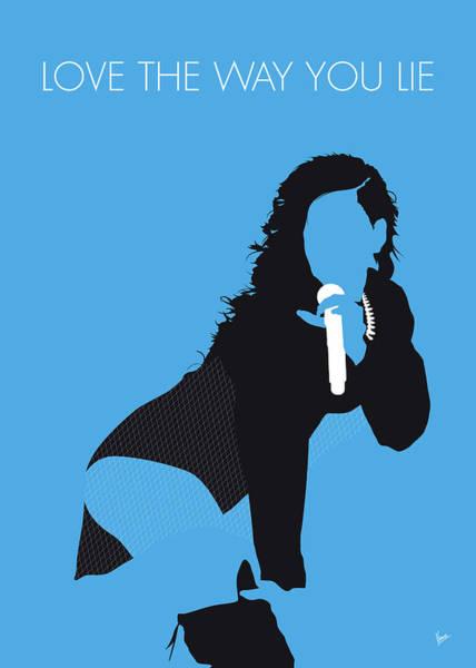 Wall Art - Digital Art - No179 My Rihanna Minimal Music Poster by Chungkong Art