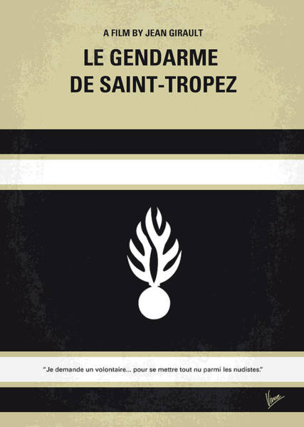 60s Wall Art - Digital Art - No186 My Le Gendarme De Saint-tropez Minimal Movie Poster by Chungkong Art