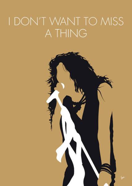 Band Digital Art - No200 My Aerosmith Minimal Music Poster by Chungkong Art