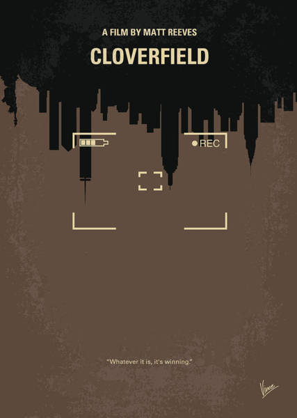 Wall Art - Digital Art - No203 My Cloverfield Minimal Movie Poster by Chungkong Art
