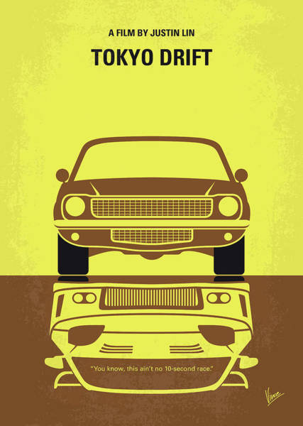 Wall Art - Digital Art - No207-3 My Tokyo Drift Minimal Movie Poster by Chungkong Art