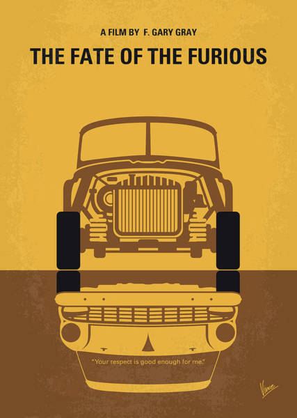 Wall Art - Digital Art - No207-8 My The Fate Of The Furious Minimal Movie Poster by Chungkong Art