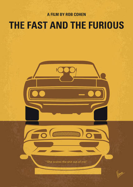 Wall Art - Digital Art - No207 My The Fast And The Furious Minimal Movie Poster by Chungkong Art