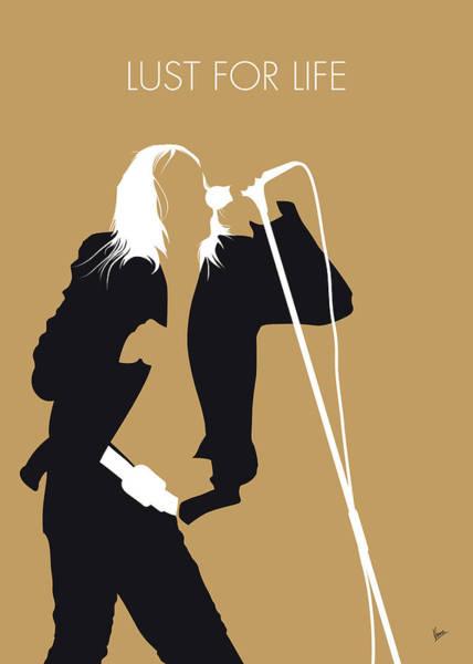Wall Art - Digital Art - No210 My Iggy Pop Minimal Music Poster by Chungkong Art