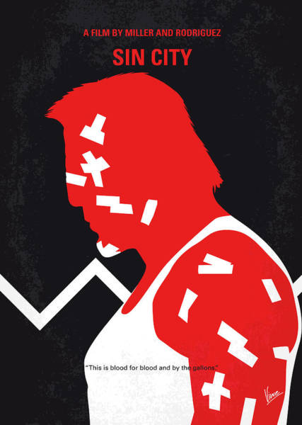 Wall Art - Digital Art - No304-1 My Sin City Minimal Movie Poster by Chungkong Art