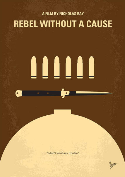Porsche Digital Art - No318 My Rebel Without A Cause Minimal Movie Poster by Chungkong Art